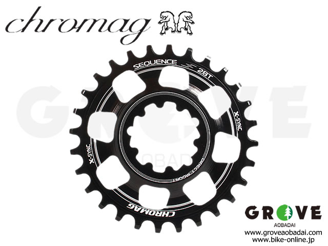 CHROMAG クロマグ [ Sequence X-SYNC DIRECT MOUNT Chainring チェーンリング Boost ] SRAM用 3mm offset 【GROVE青葉台】