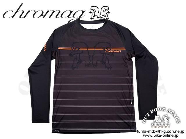 Chromag [ DOMINION Long Sleeve Jersey ]  Black 【GROVE青葉台】 ※在庫限定特価