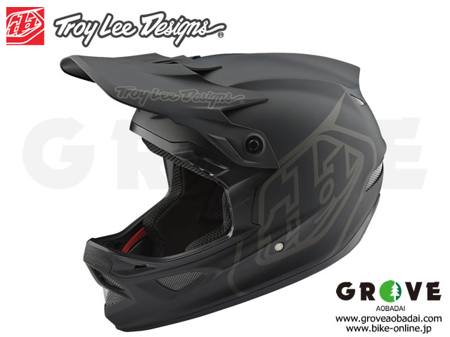 Troy Lee Designs [ D3 FIBERLITE HELMET ] MONO Black 【GROVE青葉台】