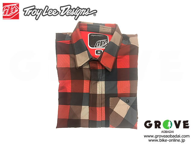 Troy Lee Designs トロイリーデザインズ [ GRIND FLANNEL ] 2019 Plaid Red 【GROVE青葉台】