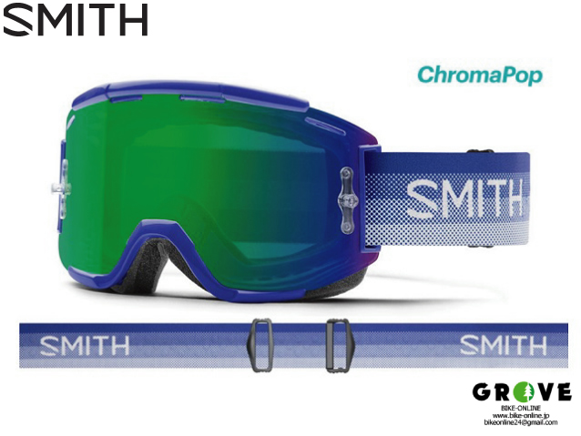 SMITH スミス [ Squad XL MTB Goggle ゴーグル ] Klein Fade - ChromaPop Everyday Green Mirror /Clear AF 【GROVE青葉台】