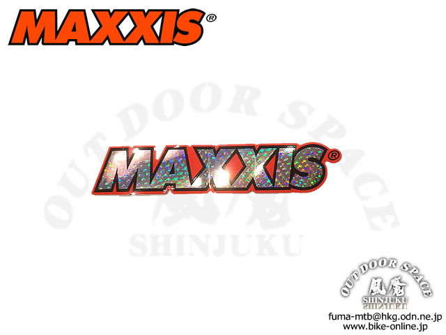 MAXXIS マキシス [ Logo Decal ] 100×20mm キラキラ・ステッカー 【GROVE青葉台】