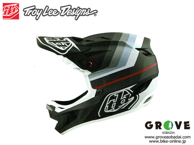 Troy Lee Designs [ D4 COMPOSITE HELMET 2020 ] MIRAGE - Black/Silver 【GROVE青葉台】