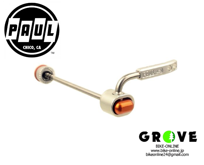 PAUL [QUICK RELEASE SKEWER STAINLESS] Silver 【GROVE宮前平】