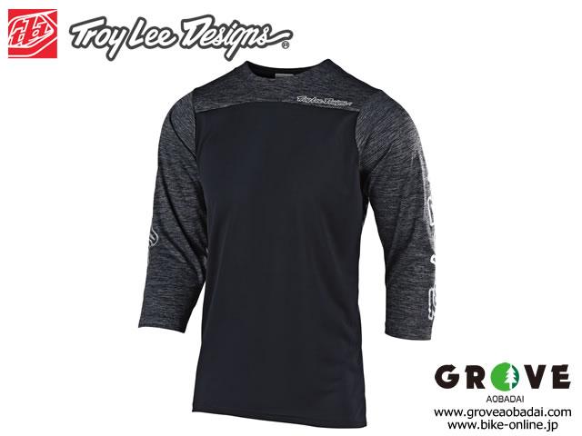 Troy Lee Designs トロイリーデザインズ [ RUCKUS 3/4 Sleeve Jersey ジャージ ] 2019 / BLOCK BLACK/HTR BLACK 【GROVE青葉台】