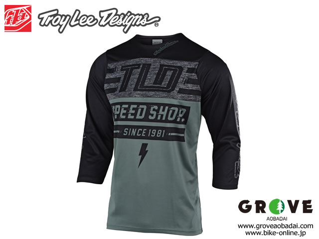 Troy Lee Designs トロイリーデザインズ [ RUCKUS 3/4 Sleeve Jersey ジャージ ] 2019 / BOLT FATIGUE GREEN/BLACK 【GROVE青葉台】