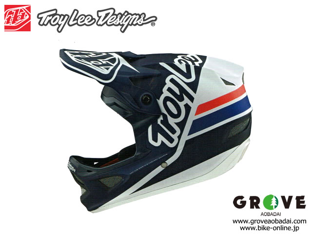 Troy Lee Designs [ D3 FIBERLITE HELMET 2020 ] SILHOUETTE - Navy White 【GROVE青葉台】