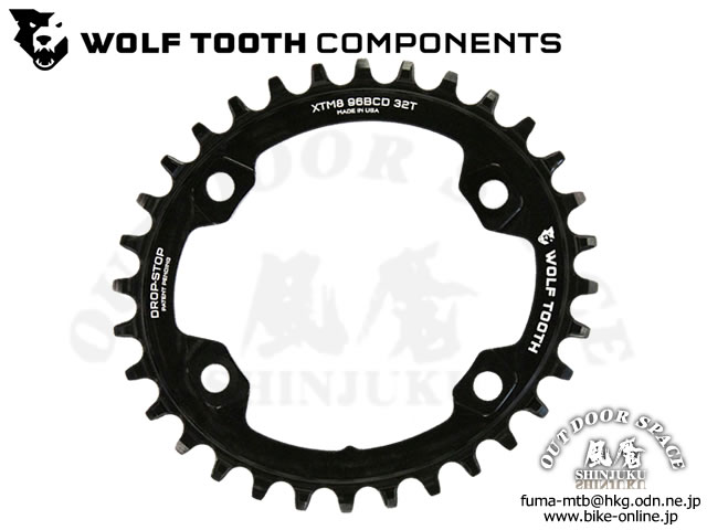 WOLFTOOTH ウルフトゥース [ Drop - Stop Elliptical Chainring チェーンリング 96BCD ] Shimano XT M8000 【GROVE青葉台】