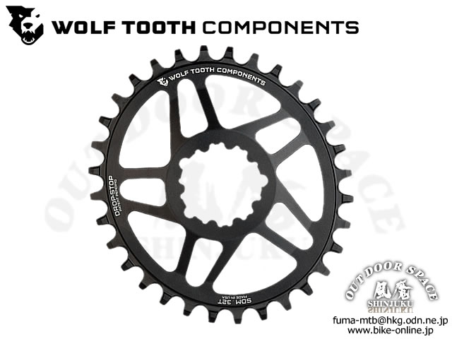 WOLFTOOTH ウルフトゥース [ Drop - Stop Elliptical SDM Chainring チェーンリング ] Direct Mount for SRAM GXP Cranks 【GROVE青葉台】