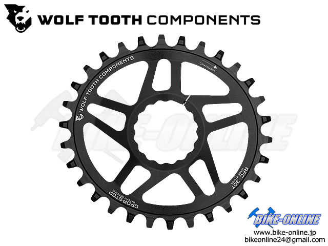 WOLFTOOTH ウルフトゥース [ Drop - Stop Elliptical DM Chainring チェーンリング ] for Race Face Cinch Cranks 【風魔横浜】