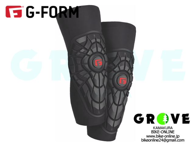 G-FORM ジーフォーム [ ELITE ニー ガード ] BLACK / BLACK 【 GROVE鎌倉 】