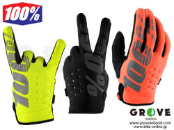 100% Goggle [ BRISKER Gloves ] 防寒グローブ Black/Yellow/Cal-Trans 【GROVE青葉台】