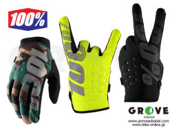 100% Goggle [ BRISKER Gloves ] 防寒グローブ Black/Yellow/Camo 【GROVE青葉台】