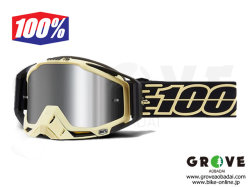 100% [ Racecraft PLUS レースクラフト Goggle ゴーグル ] Jiva - Injected Silver Flash Mirror Lens 【GROVE青葉台】