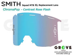 SMITH スミス [ Squad XL MTB Replacement Lens レンズ ] ChomaPOP Contrast Rose Flash 【GROVE青葉台】
