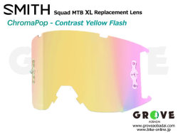 SMITH スミス [ Squad XL MTB Replacement Lens レンズ ] ChomaPOP Contrast Yellow Flash 【GROVE青葉台】