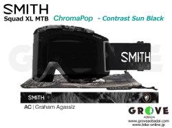 SMITH スミス [ Squad XL MTB Goggle ゴーグル ] AC Graham Agassiz - ChomaPOP Contrast Sun Black 【GROVE青葉台】