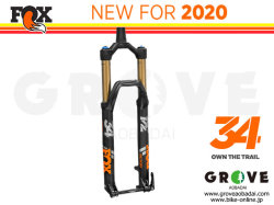 FOX RACING SHOX 2020 [ 34 FLOAT 130/140/150 FIT4 3Pos-Adj 15QRx110 44mm ] FACTORY 【BIKE-ONLINE】 ※メーカー在庫より お取り寄せ