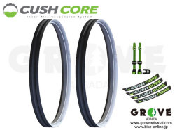 CUSH CORE クッシュコア [ Cush Core Set ] タイヤ フォームインサート- inserts and air valves for two wheels - 【GROVE青葉台】