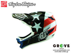 Troy Lee Designs [ D4 COMPOSITE HELMET 2020 ] FREEDOM 2.0 - Red/White 【GROVE青葉台】