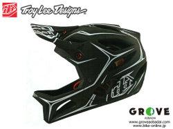 Troy Lee Designs トロイリーデザインズ [ STAGE Helmet Mips 2020 ] PINSTRIPE - Black/White フルフェイス ヘルメット 【GROVE青葉台】