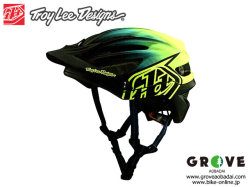 Troy Lee Designs トロイリーデザインズ [ A2  Helmet Mips 2020 ] STAIN'D - Nvy/Yel ハーフ ヘルメット 【GROVE宮前平】