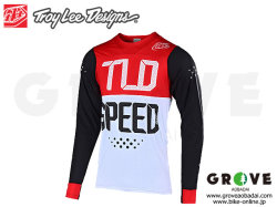 Troy Lee Designs トロイリーデザインズ [ SKYLINE AIR LS Jersey ジャージ ] 2019 / Speed Shop Black/Red 【GROVE青葉台】