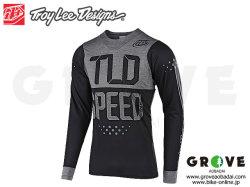 Troy Lee Designs トロイリーデザインズ [ SKYLINE LS Jersey ジャージ ] 2019 / Speed Shop Black/Grey 【GROVE青葉台】