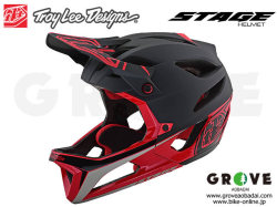 Troy Lee Designs トロイリーデザインズ [ STAGE Helmet Mips ] RACE - BLACK RED フルフェイス ヘルメット 【GROVE青葉台】