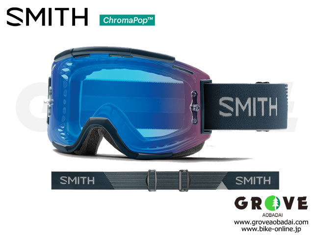 SMITH スミス [ Squad MTB Goggle ゴーグル ] Iron - ChromaPop Contrast Rose Flash /Clear 【GROVE青葉台】