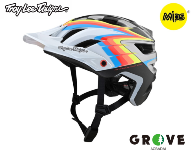 TroyLeeDesigns トロイリーデザインズ [ A3 Helmet Mips 2021 ] SIDEWAY WHITE/GRAY MD/LG [ GROVE青葉台 ]