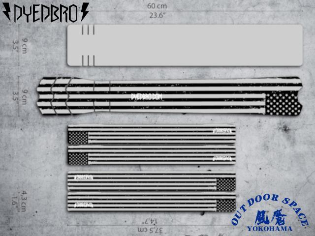 DYEDBRO ダイブロ [ AMERICAN FLAG ] フレームプロテクションキット 【風魔横浜】