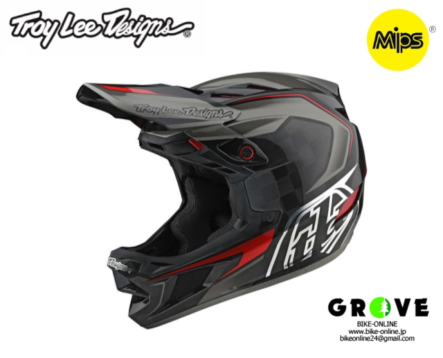 Troy Lee Designs トロイリーデザインズ [ D4 CARBON EXILE GRAY ] 【GROVE宮前平】