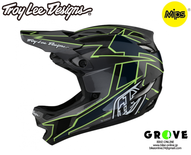 TroyLeeDesigns トロイリーデザインズ [D4 CARBON GRAPH GY/GN] 【GROVE宮前平】