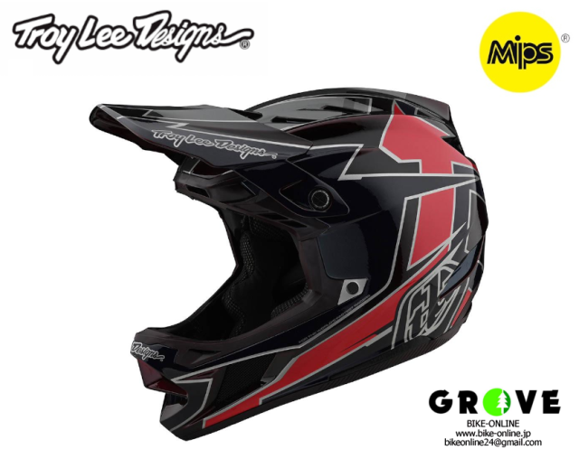Troy Lee Designs トロイリーデザインズ [ D4 COMPOSITE GRAPH RED ]【GROVE宮前平】