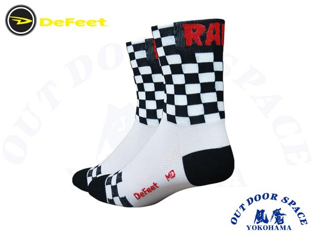 DeFeet ディフィート [ AI Checkmate Socks  ] Sサイズ BLK/WHT 【 風魔横浜 】