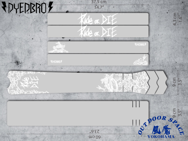 DYEDBRO ダイブロ [ RIDE OR DIE ] フレームプロテクションキット 【風魔横浜】