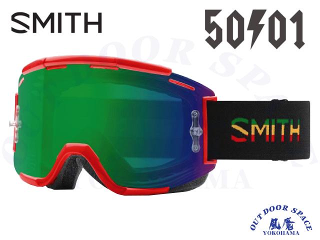 SMITH スミス [ Squad MTB Goggle ] 50to01 - ChromaPop Everyday Green Mirror /Clear AF【風魔横浜】
