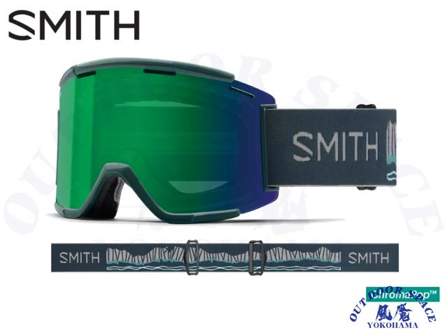 SMITH スミス [ Squad XL MTB Goggle ゴーグル ] Rocky Mountain - ChromaPop Everyday Green Mirror / Clear 【 風魔横浜 】