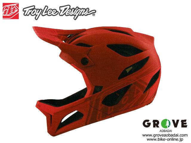 TroyLeeDesigns トロイリーデザインズ [ STAGE Helmet Mips 2021 ] STEALTH - Red  フルフェイス ヘルメット 【GROVE青葉台】