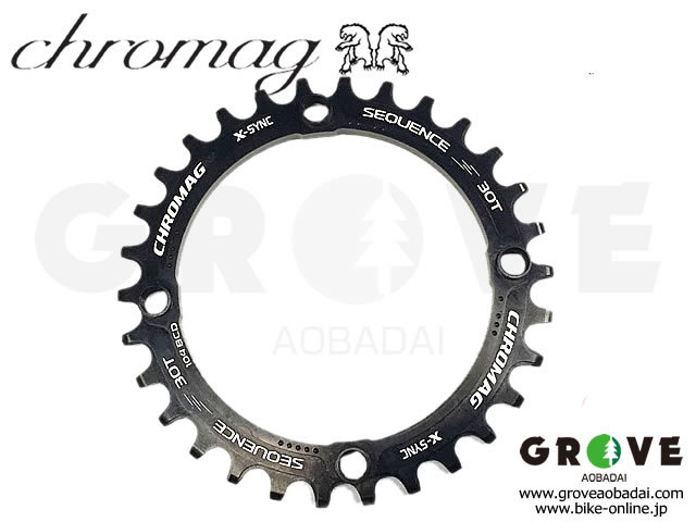 CHROMAG クロマグ [ Sequence X-SYNC Chainring チェーンリング ] 30T ブラック 【GROVE青葉台】