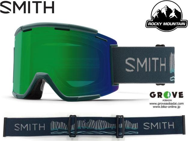 SMITH スミス [ Squad XL MTB Goggle ゴーグル ] RockyMountain Enduro - ChromaPop Everyday Green Mirror /Clear AF 【GROVE青葉台】