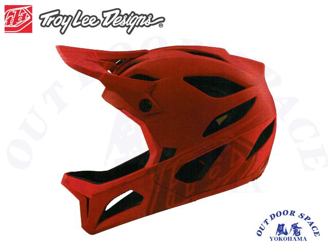 TroyLeeDesigns トロイリーデザインズ [ STAGE Helmet Mips 2020 ] STEALTH - Red  フルフェイス ヘルメット 【風魔横浜】