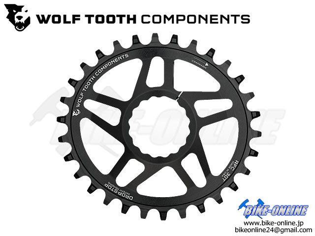 WOLFTOOTH ウルフトゥース [ Drop - Stop Elliptical DM Chainring ] for Race Face Cinch Cranks 【風魔横浜】