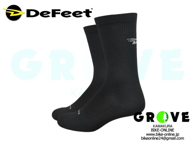 DeFeet [ Levitator Trail 6inch Socks ] D-Logo / Black 【 GROVE鎌倉 】