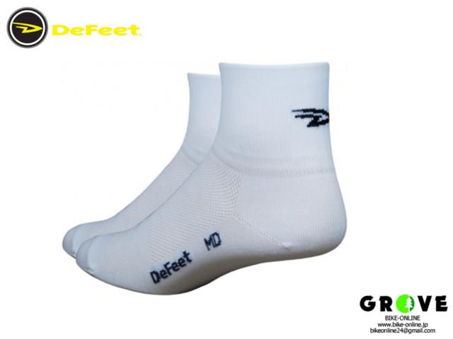 DeFeet デフィート[ Aireator 3 D-logo ] 速乾性 ソックス ホワイト 【 GROVE青葉台 】