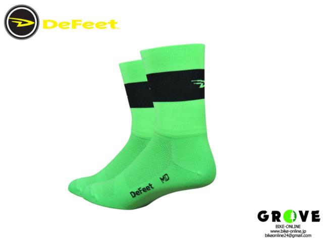 DeFeet デフィート [ Aireator 5 ] 速乾性ソックス グリーン Lサイズ 【GROVE青葉台】