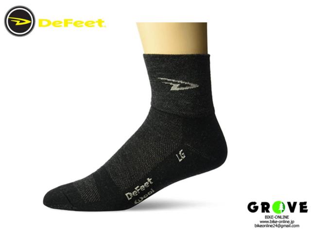 DeFeet [ Wooleator D-Logo Socks - 3 inch, Charcoal ] Lサイズ 【 GROVE青葉台 】