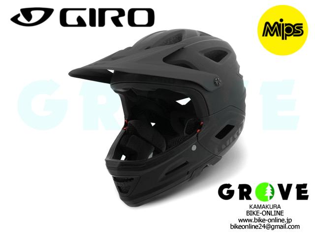 GIRO ジロ [ Switchblade フルフェイス/ハーフ ヘルメット ] Matte BLACK /GLOSS BLACK 【 GROVE鎌倉 】【送料無料】