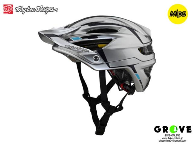 TroyLeeDesigns トロイリーデザインズ [ A2  Helmet Mips 2021 ] SLIVER SILVER / BURGUNDY ハーフ ヘルメット 【GROVE青葉台】